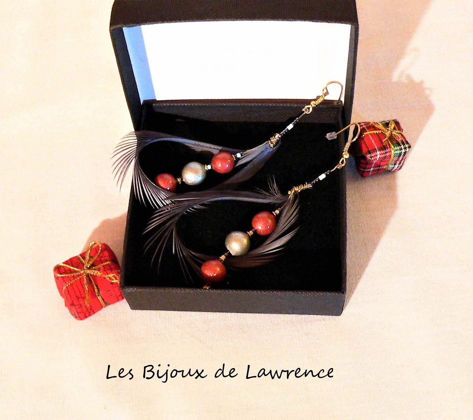 boucles d'oreilles-céramique-gamme-plume-cygne